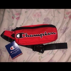 Red champion fanny pack